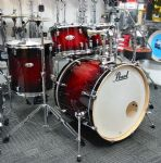 "PEARL DECADE MAPLE  22"" ROCK/FUSION KIT GLOSS DEEP RED BURST"